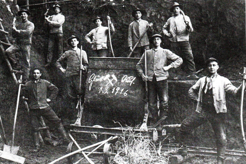 In der Grube bei Lardenbach vor 100 Jahren