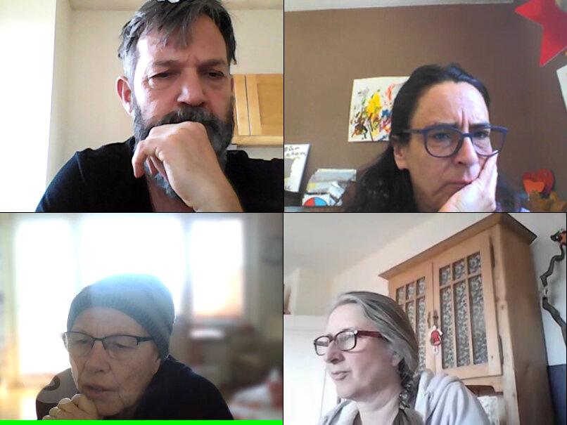 Bild zeigt Videokonferenz mit Team Stadtteilzentrum