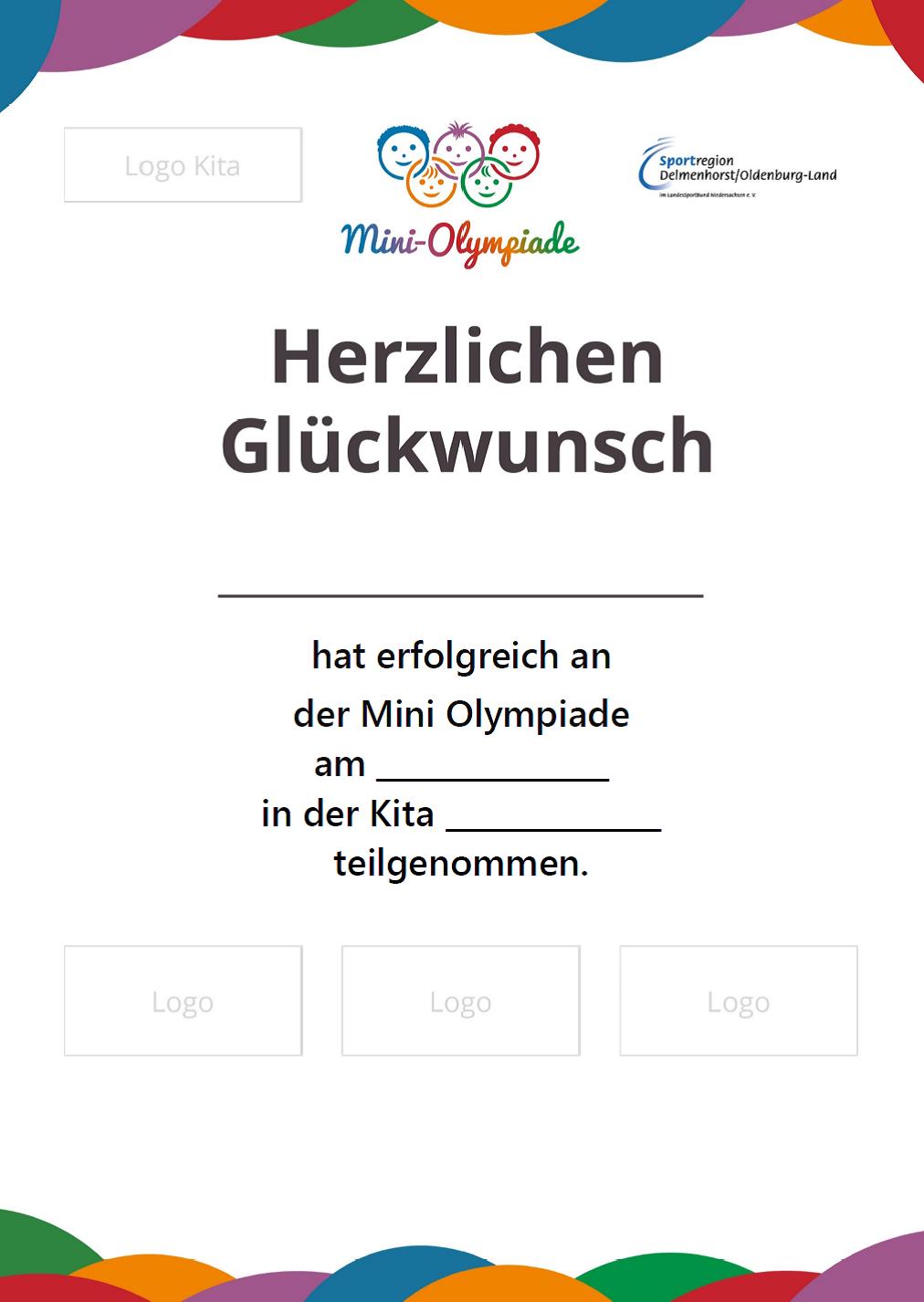 Urkunde Mini-Olympidade