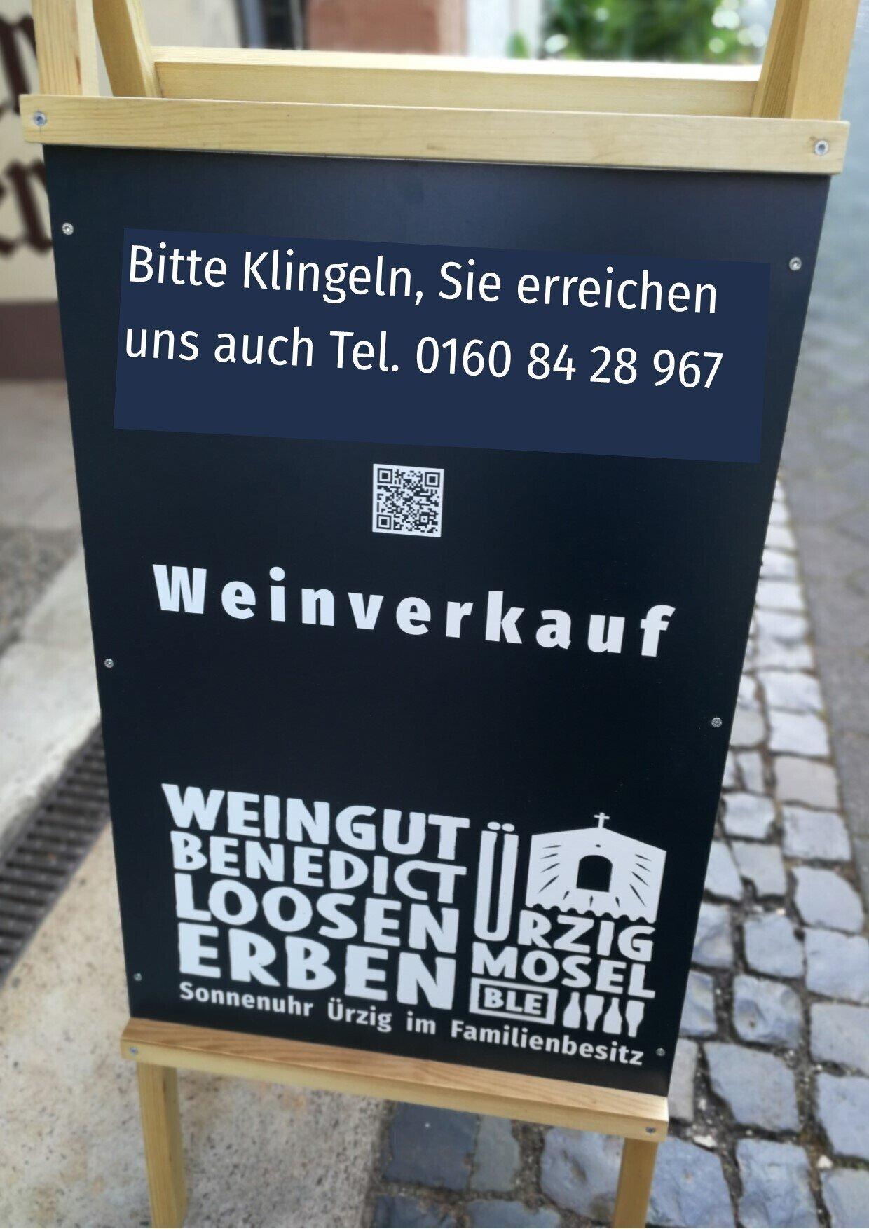 click and collect im WeinGut Benedict Loosen Erben