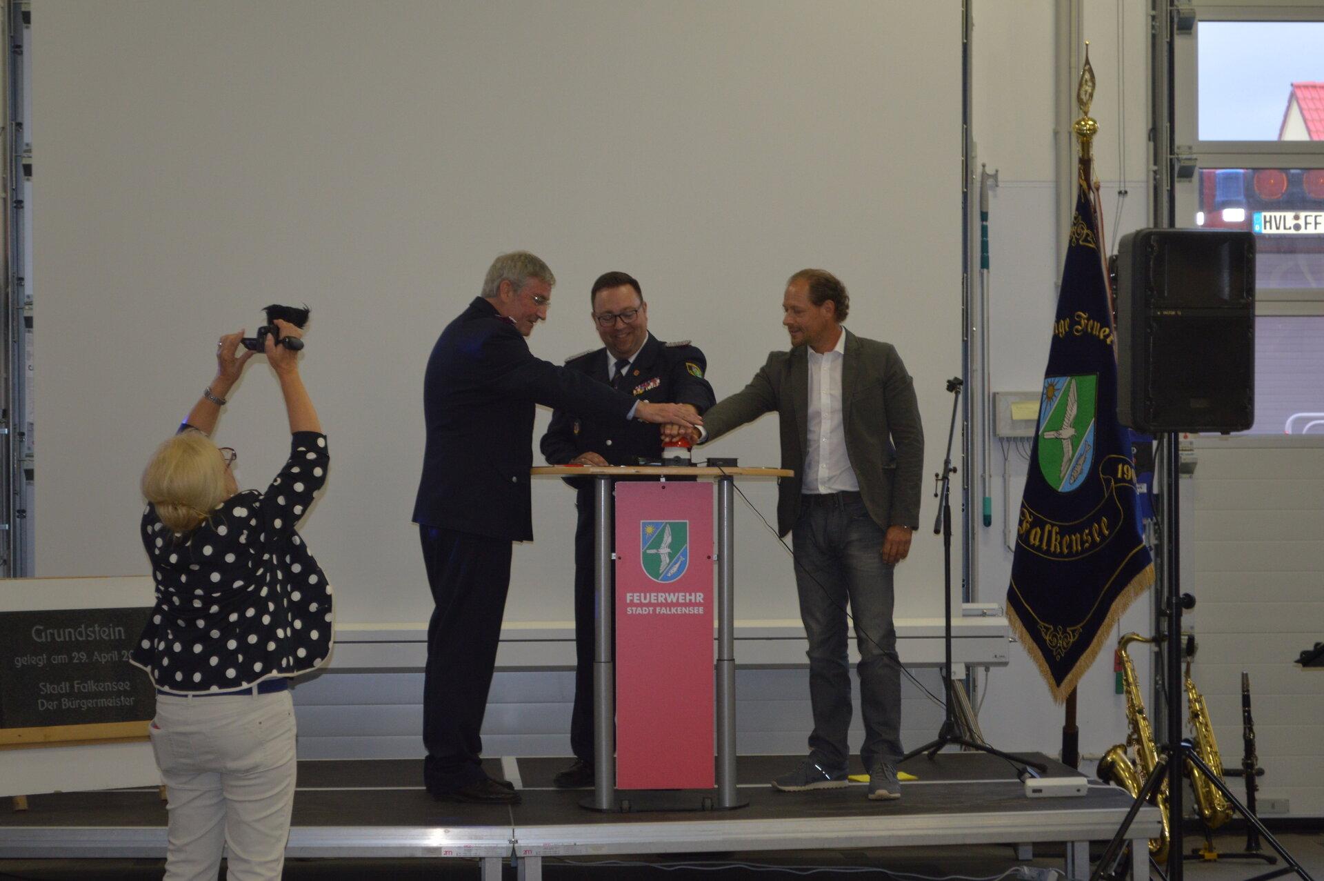 Juni 2018: Offizielle Einweihung der neuen Feuer- und Rettungswache (Quelle: Stadtarchiv).