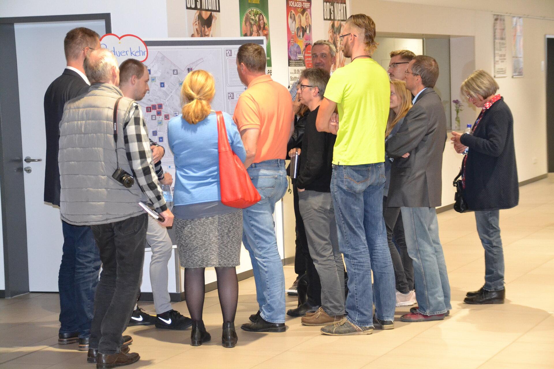 Oktober 2018: Offene Bürgerwerkstatt zum Parkraumkonzept in der Stadthalle (Quelle: Stadtarchiv).