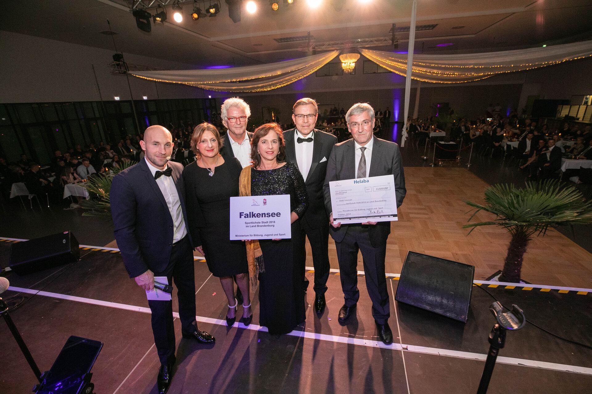 November 2018: Falkensee ist offiziell Brandenburgs sportlichste Stadt 2018 (Quelle: Stadtarchiv).