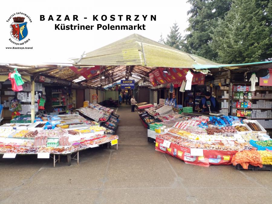 Der Eingangsbereich zum Küstriner Polenmarkt