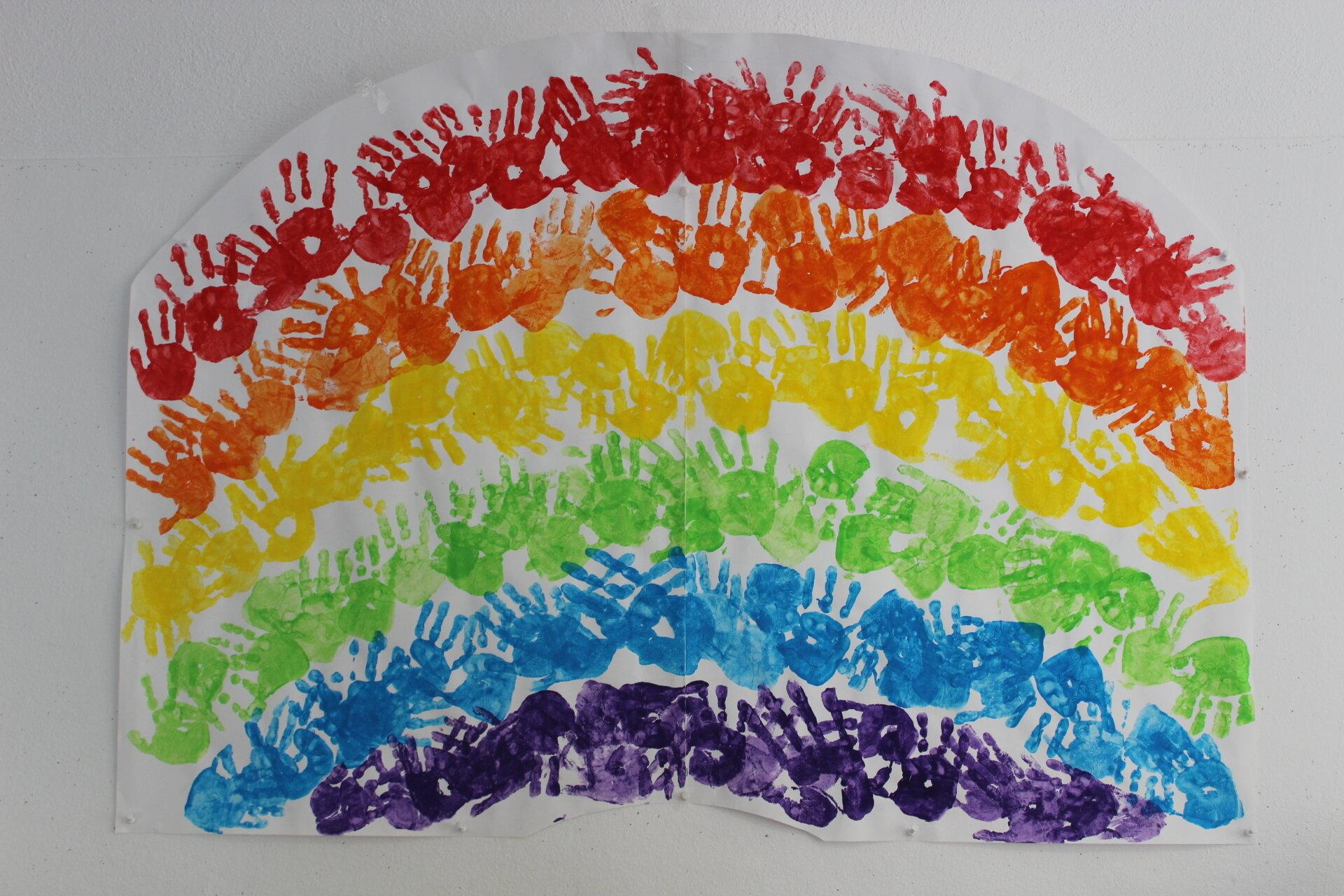 Bild Regenbogenhände