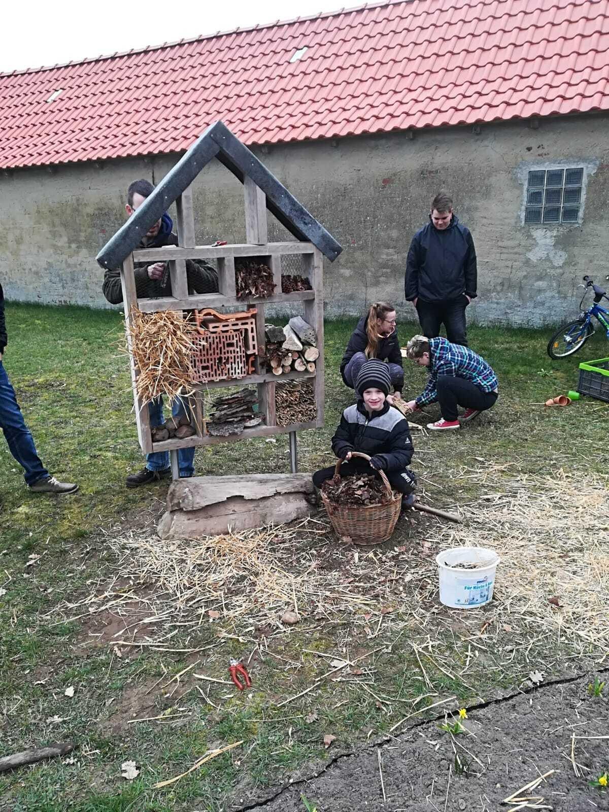 Insektenhotel-Bau