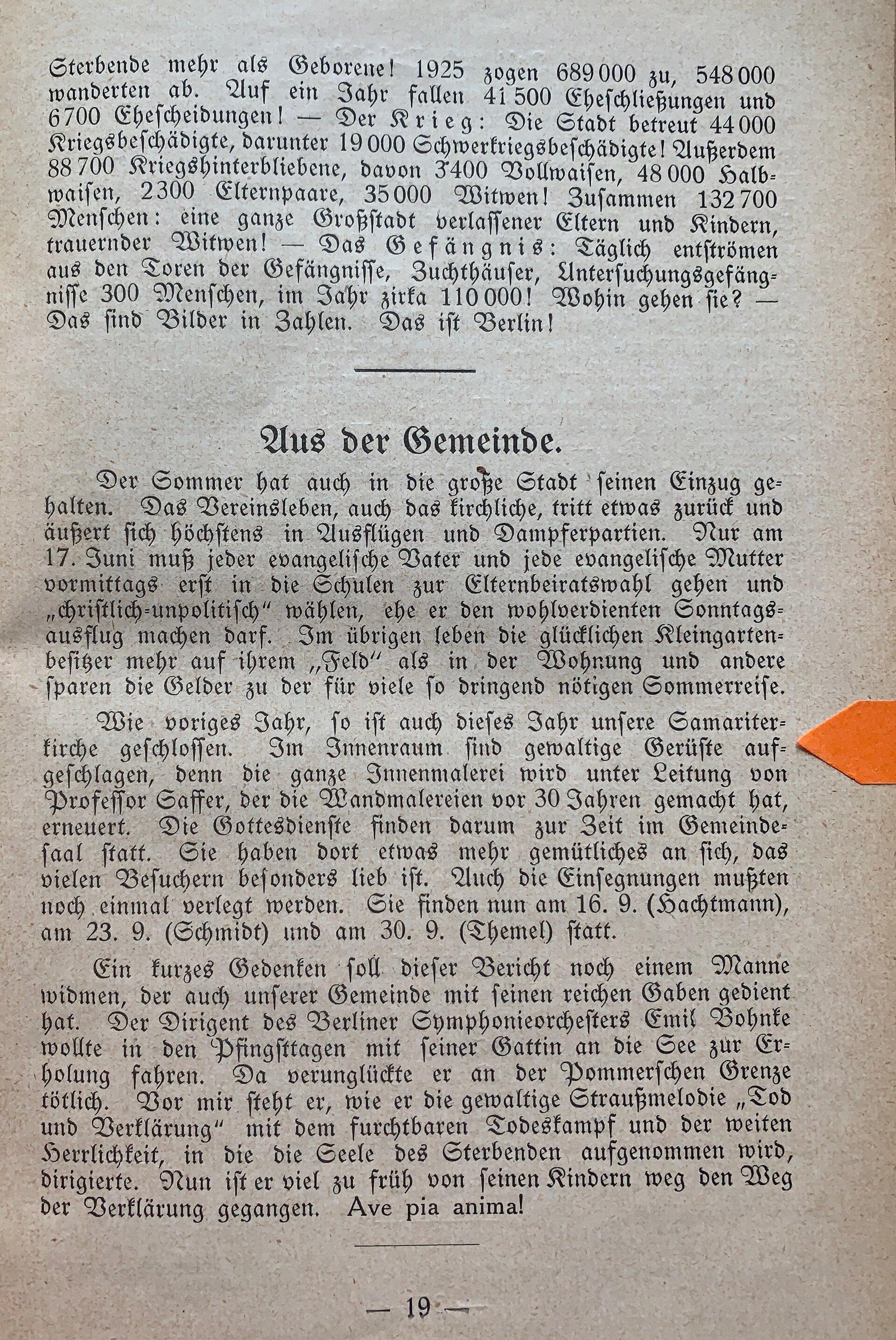 Seite 19 Aus der Gemeinde