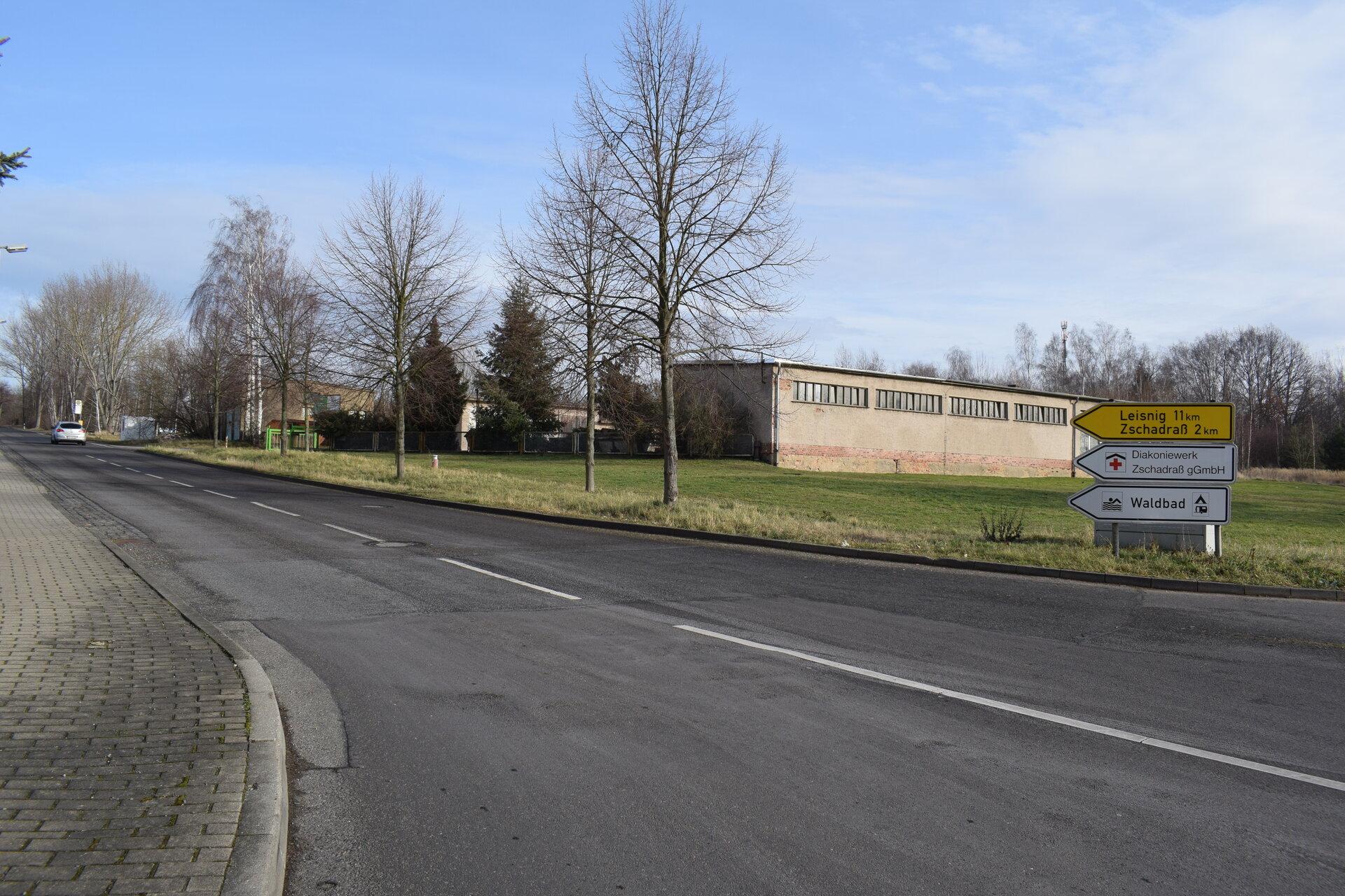 Leisniger Straße Richtung Tiergarten nach Zschadraß