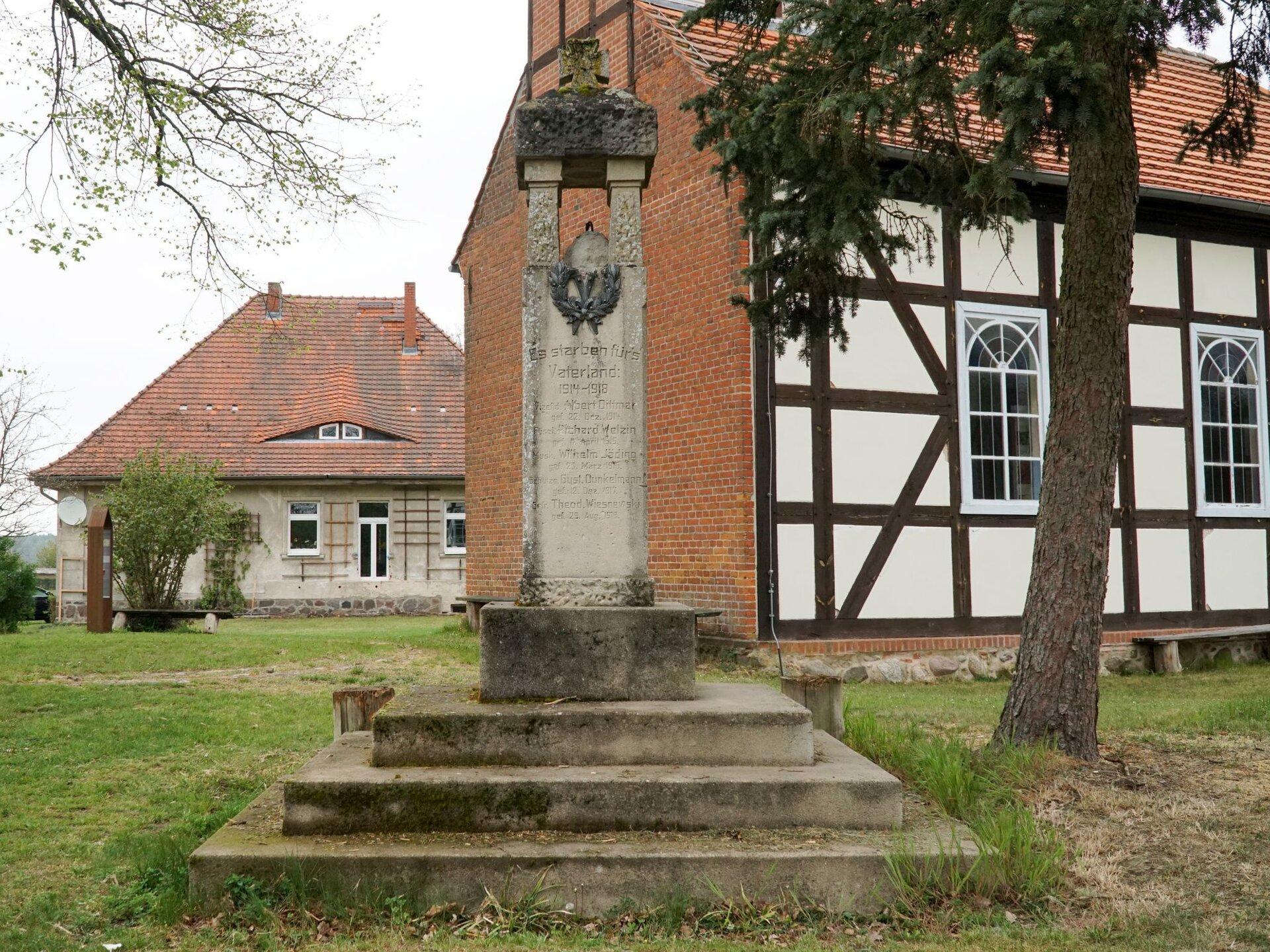 Bölzke, Kriegerdenkmal 1. Weltkrieg