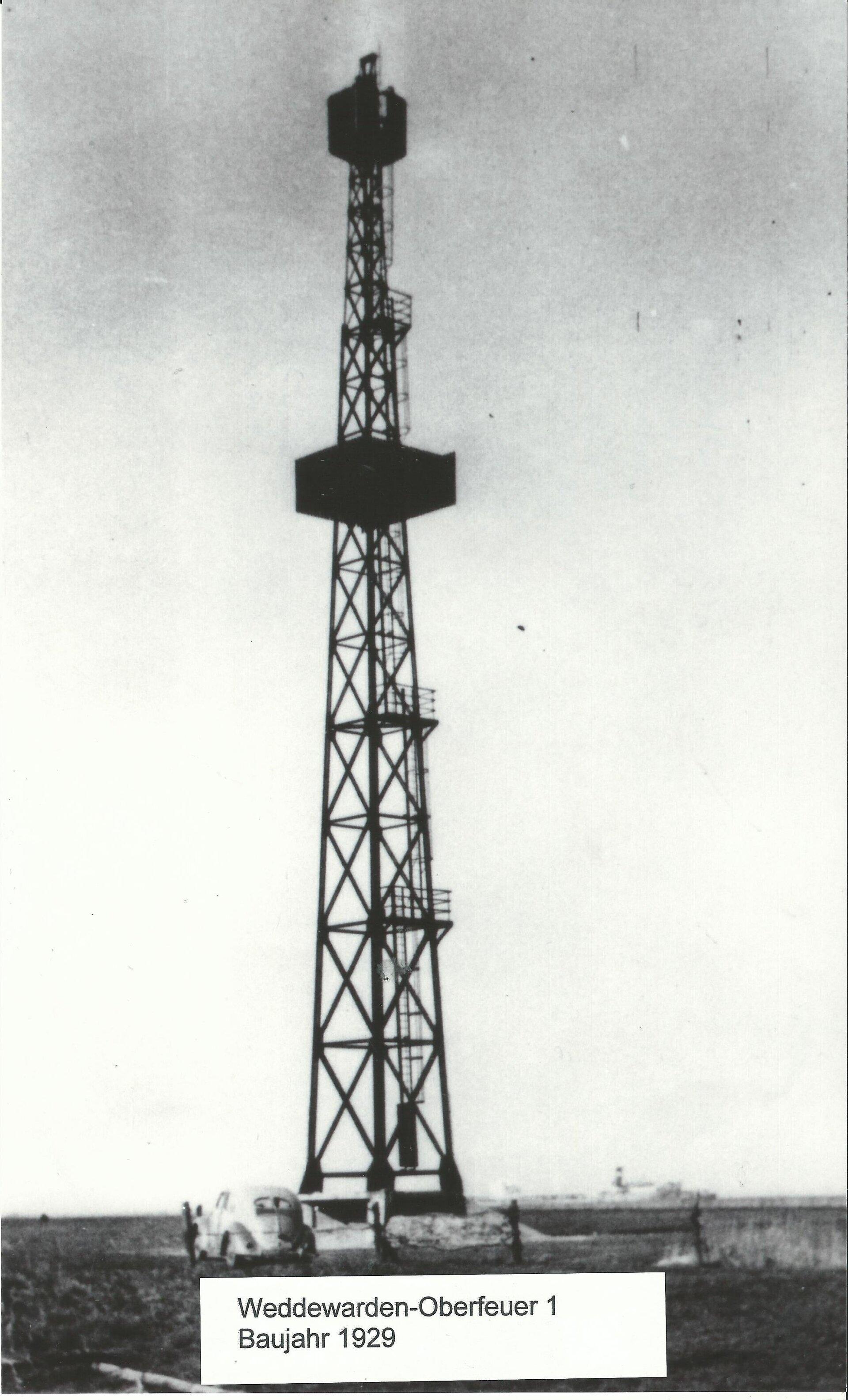 Weddewarden Oberfeuer 1929