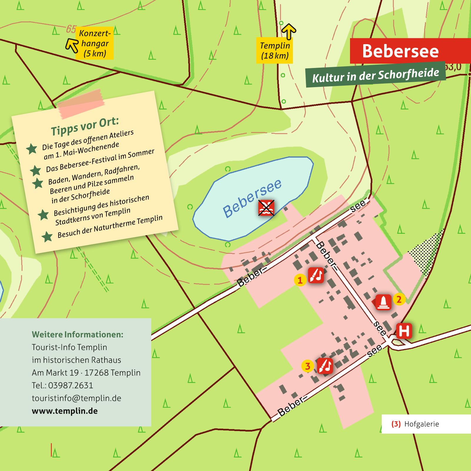 Ausflugskarte fuer Bebersee