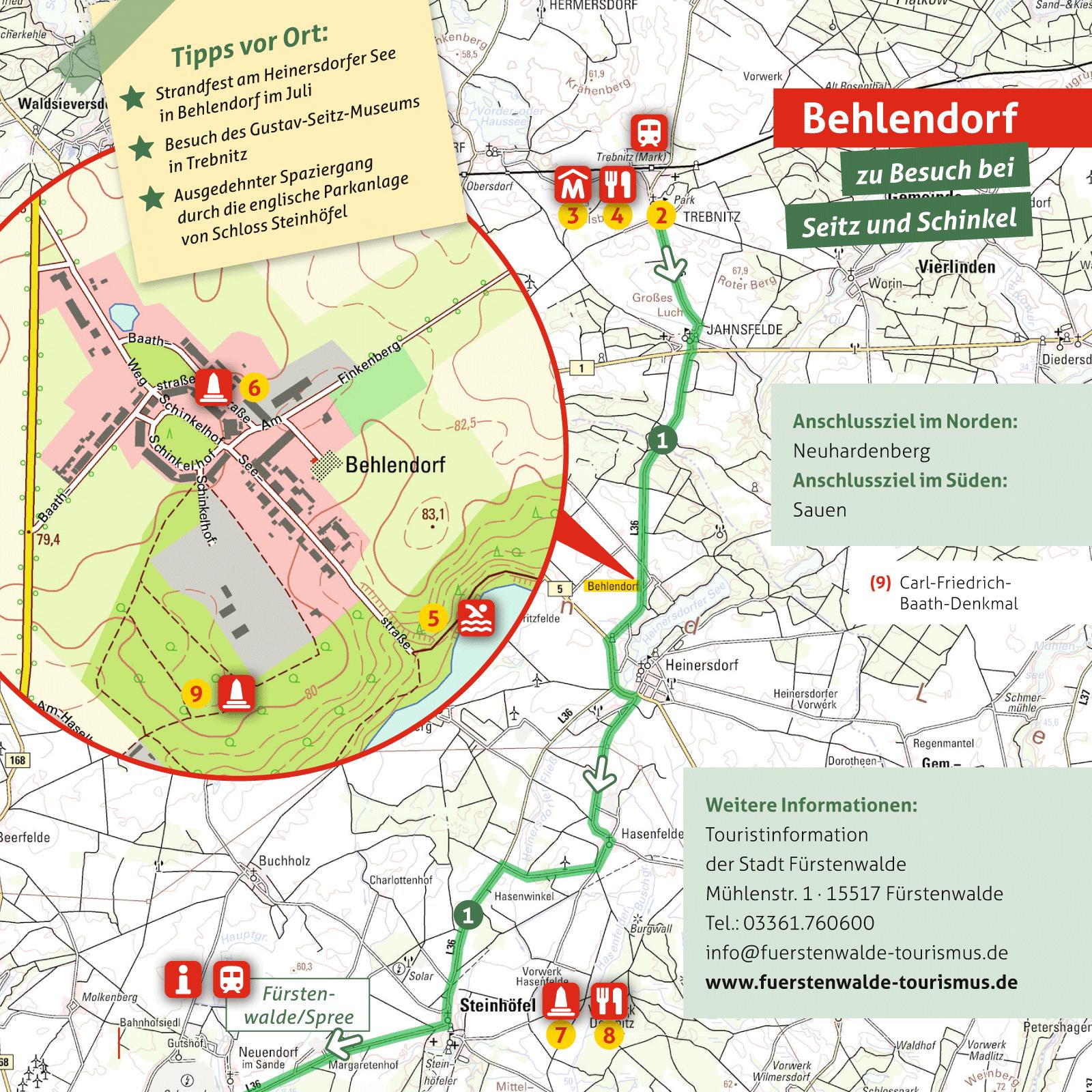 Ausflugskarte für Behlendorf