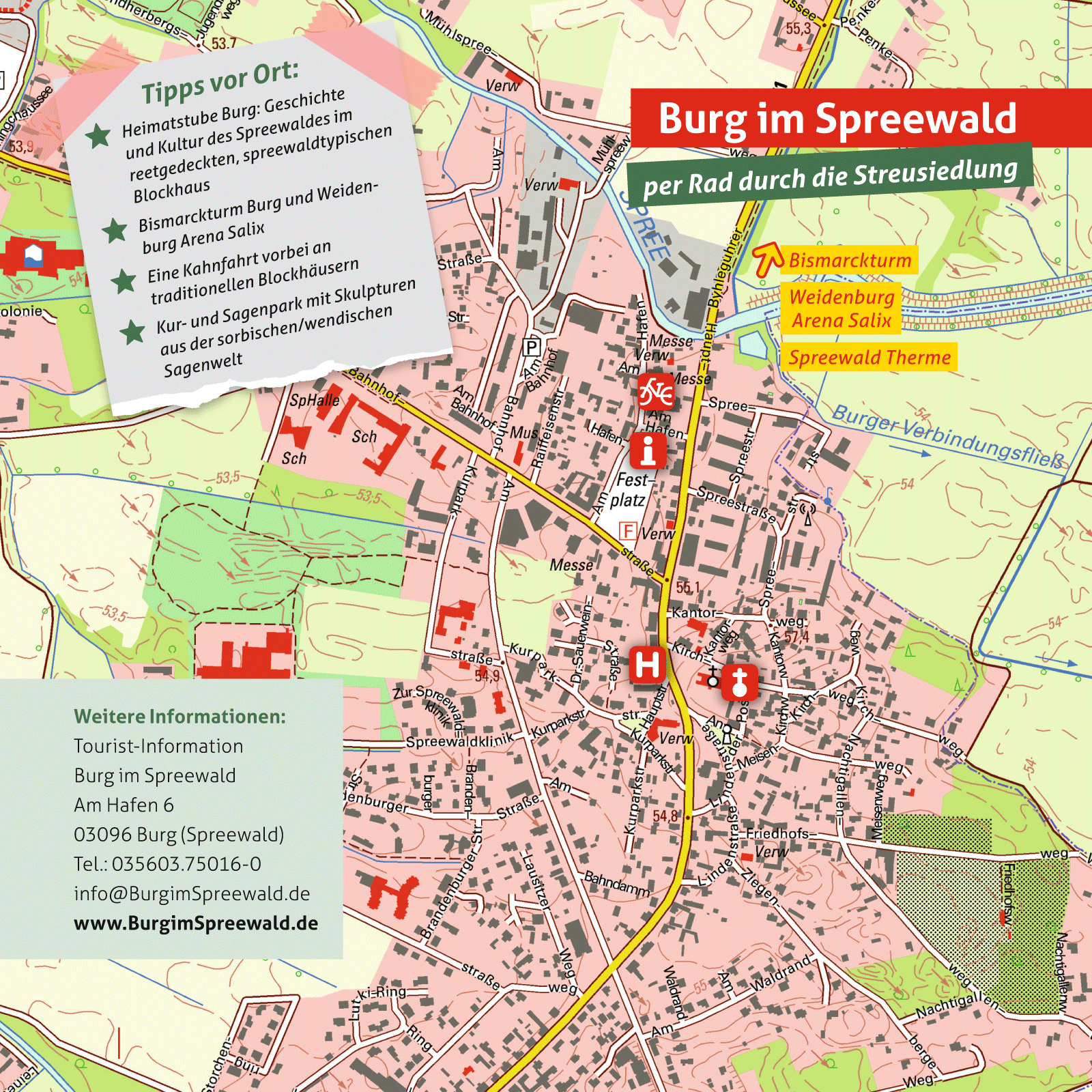 Ausflugskarte für Burg (Spreewald)