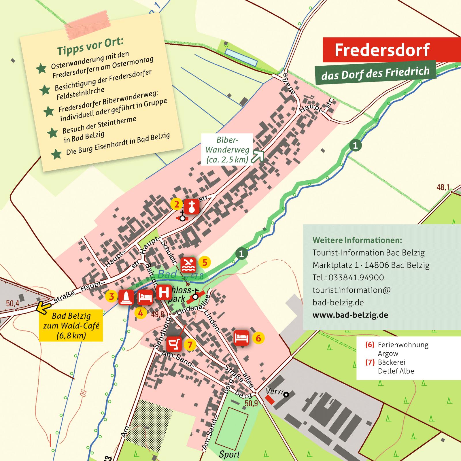 Ausflugskarte für Fresdersdorf