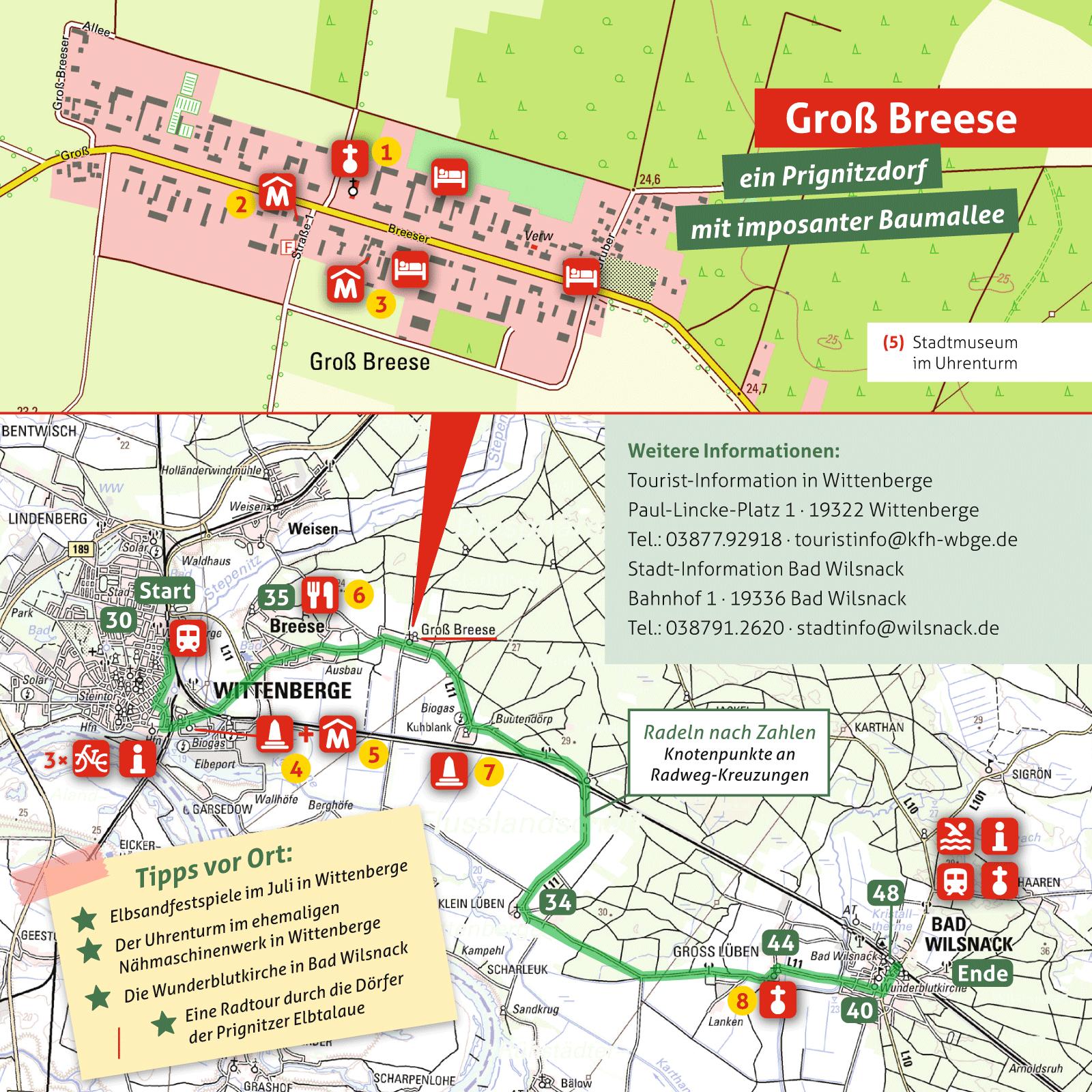 Ausflugskarte für Groß Breese