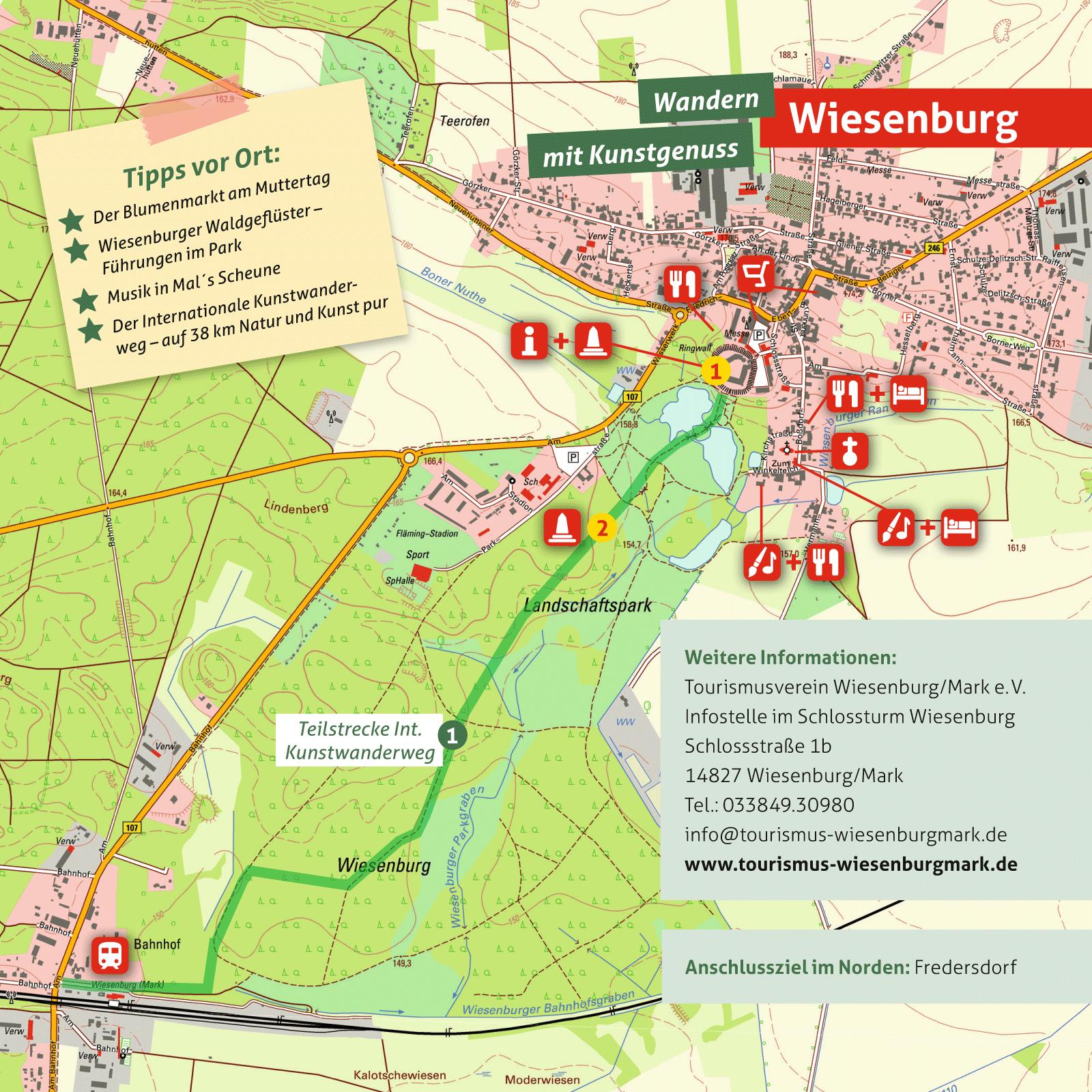 Ausflugskarte für Wiesenburg