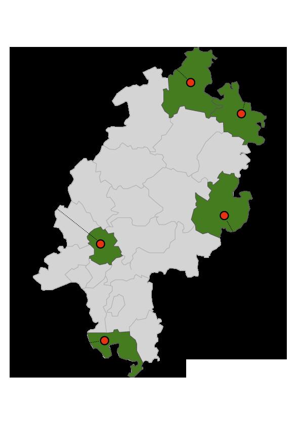 Karte unserer Modellregion