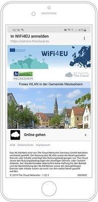Landingpage WiFi4EU