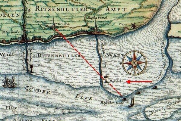 Karte Rossbake