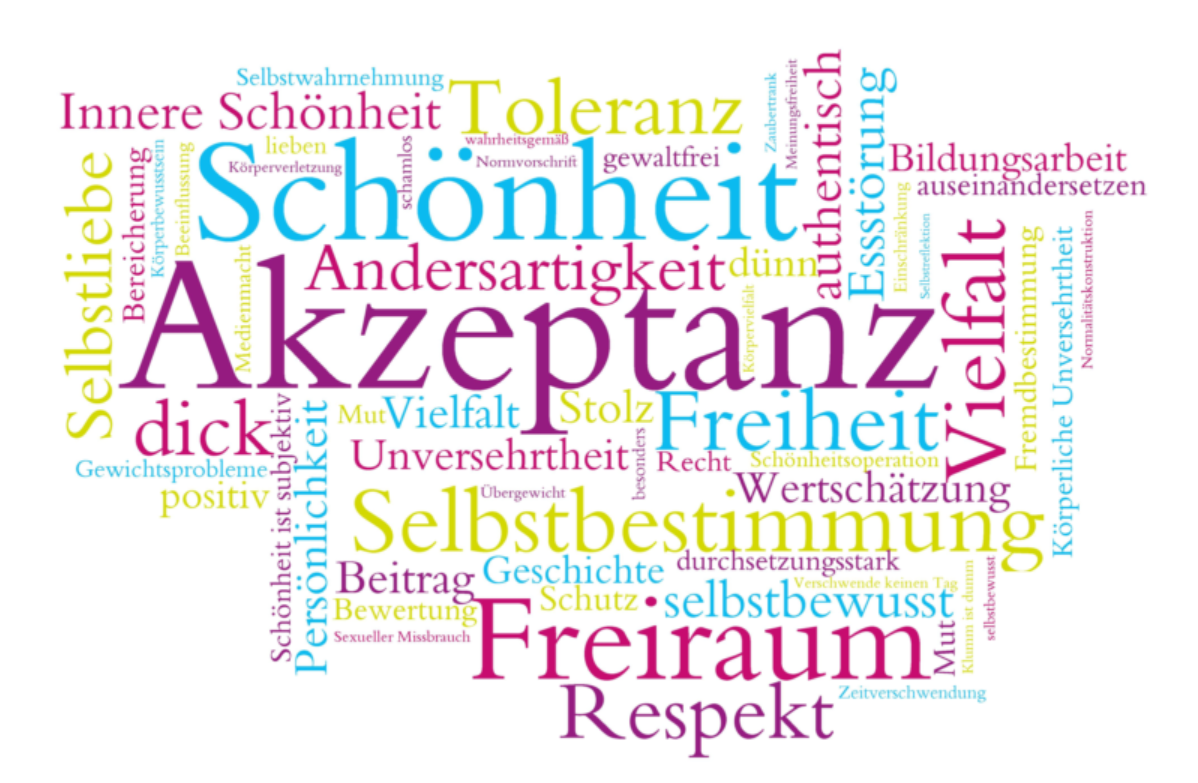 Bild zeigt Demokratie-Wortwolke, Foto: Maintal Aktiv - Freiwilligenagentur