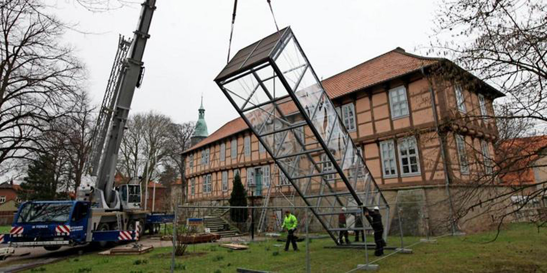 Außenaufzug Schloss Fallersleben