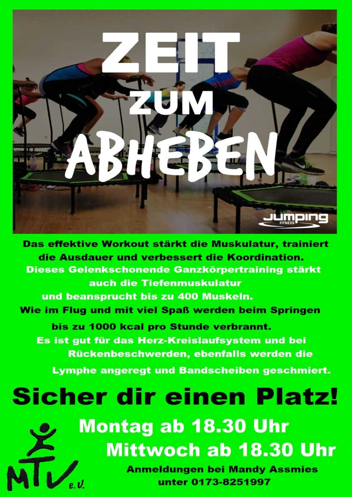 Jumping mit weiterem Trainingstag !