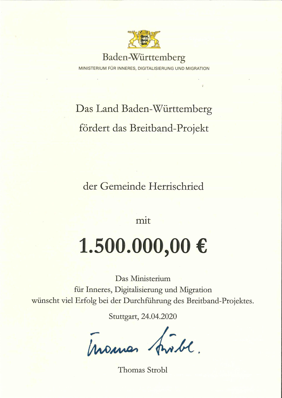 Urkunde_Mitfinanzierung