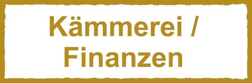 Schild Kämmerei / Finanzen