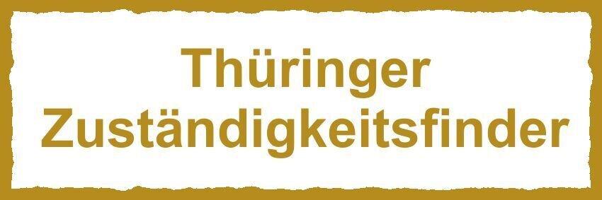 Schild Thüringer Zuständigkeitsfinder