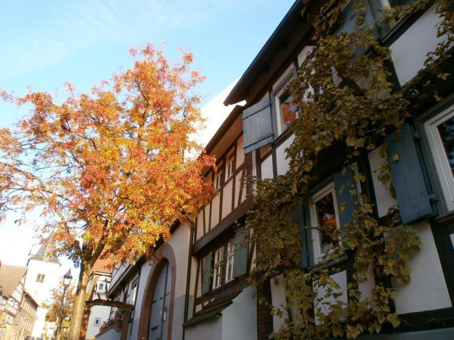 Bild zeigt Fachwerk-Häuser im Stadt-Teil Hochstadt; Bild: Stadt Maintal