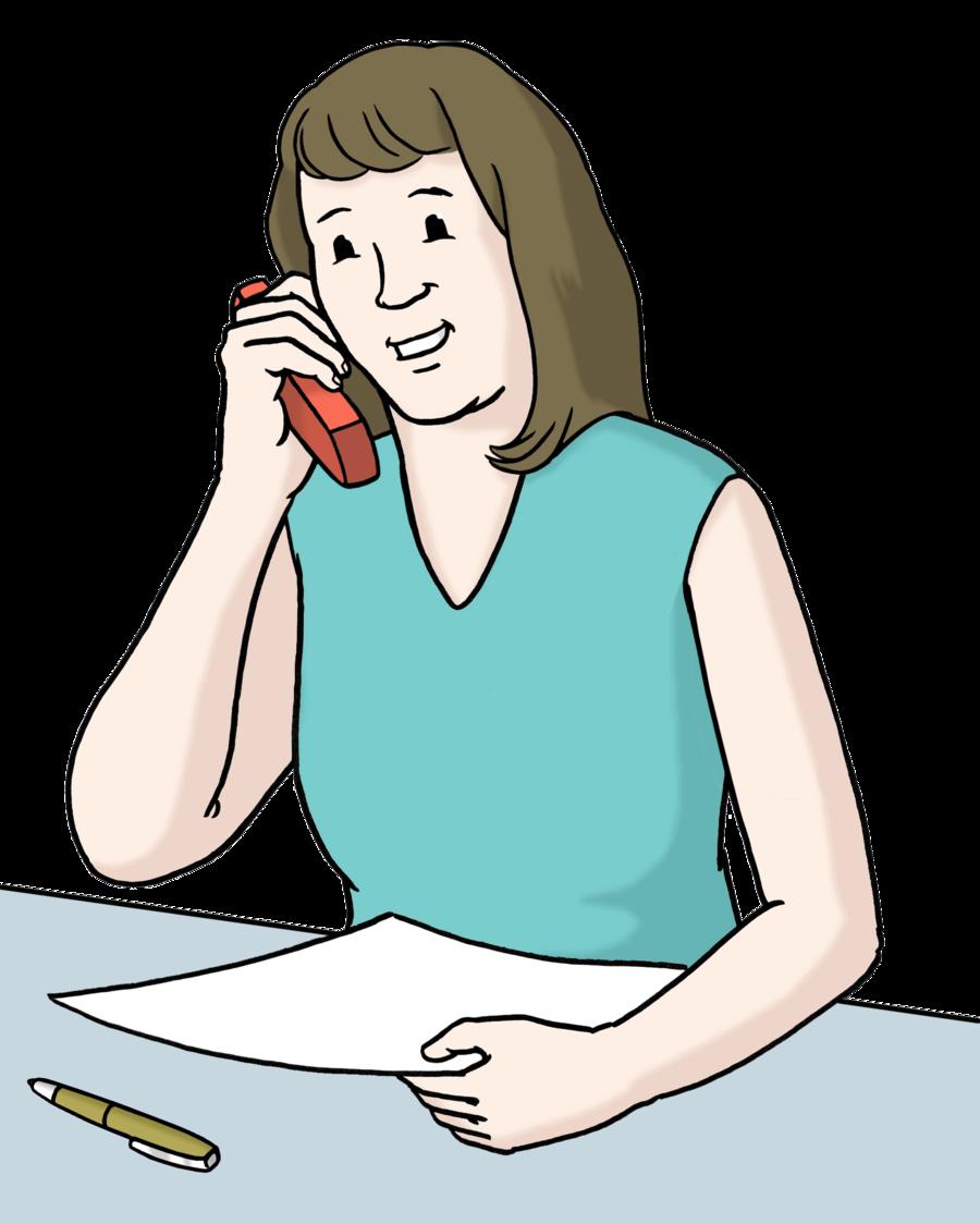 Bild zeigt eine Frau beim Telefonieren