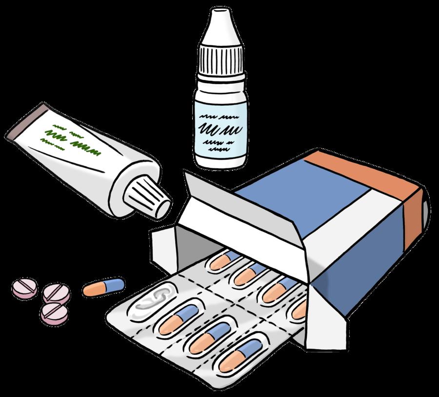 Bild zeigt alte Tabletten und Salben