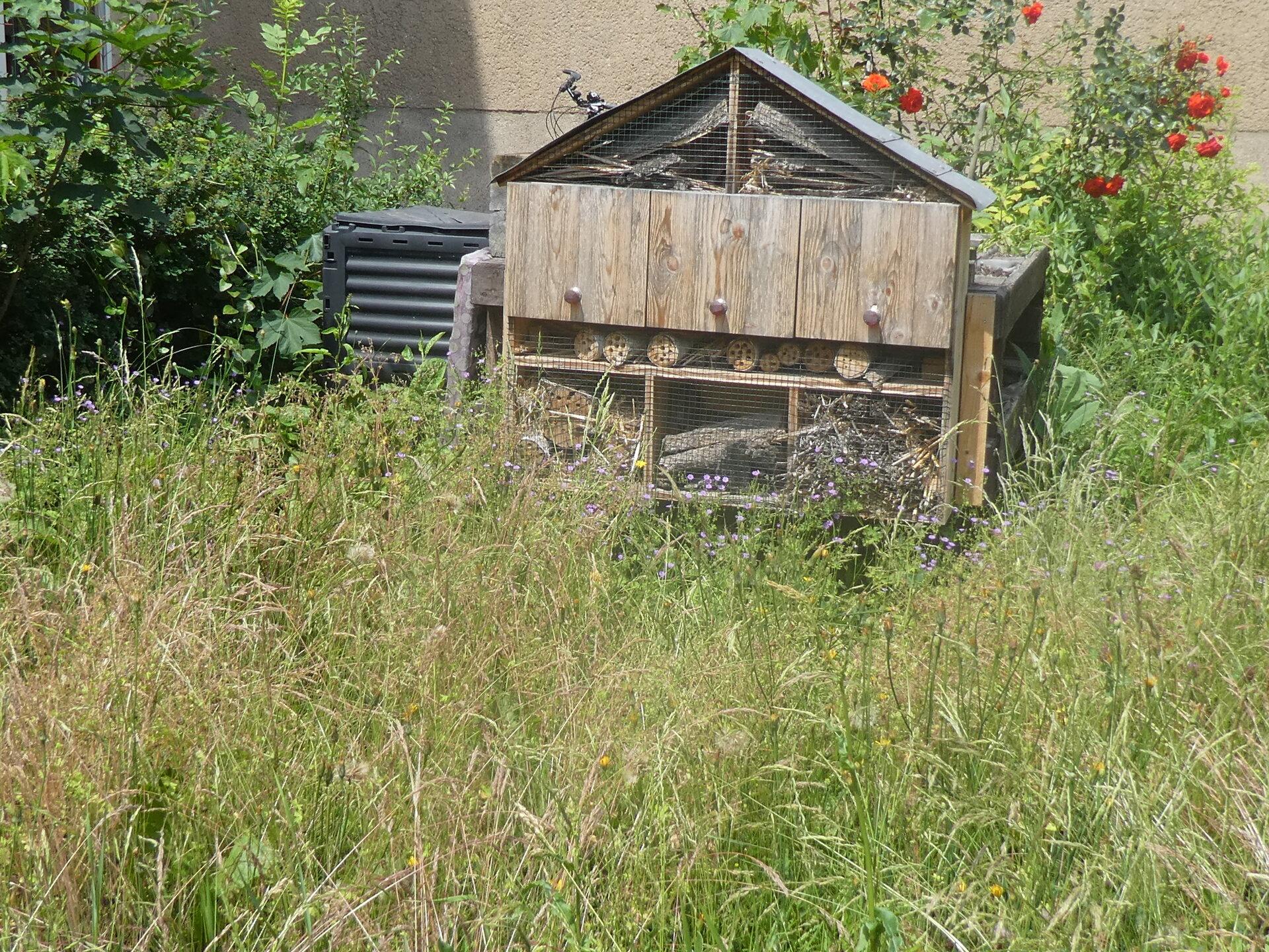 Unser Insektenhotel.