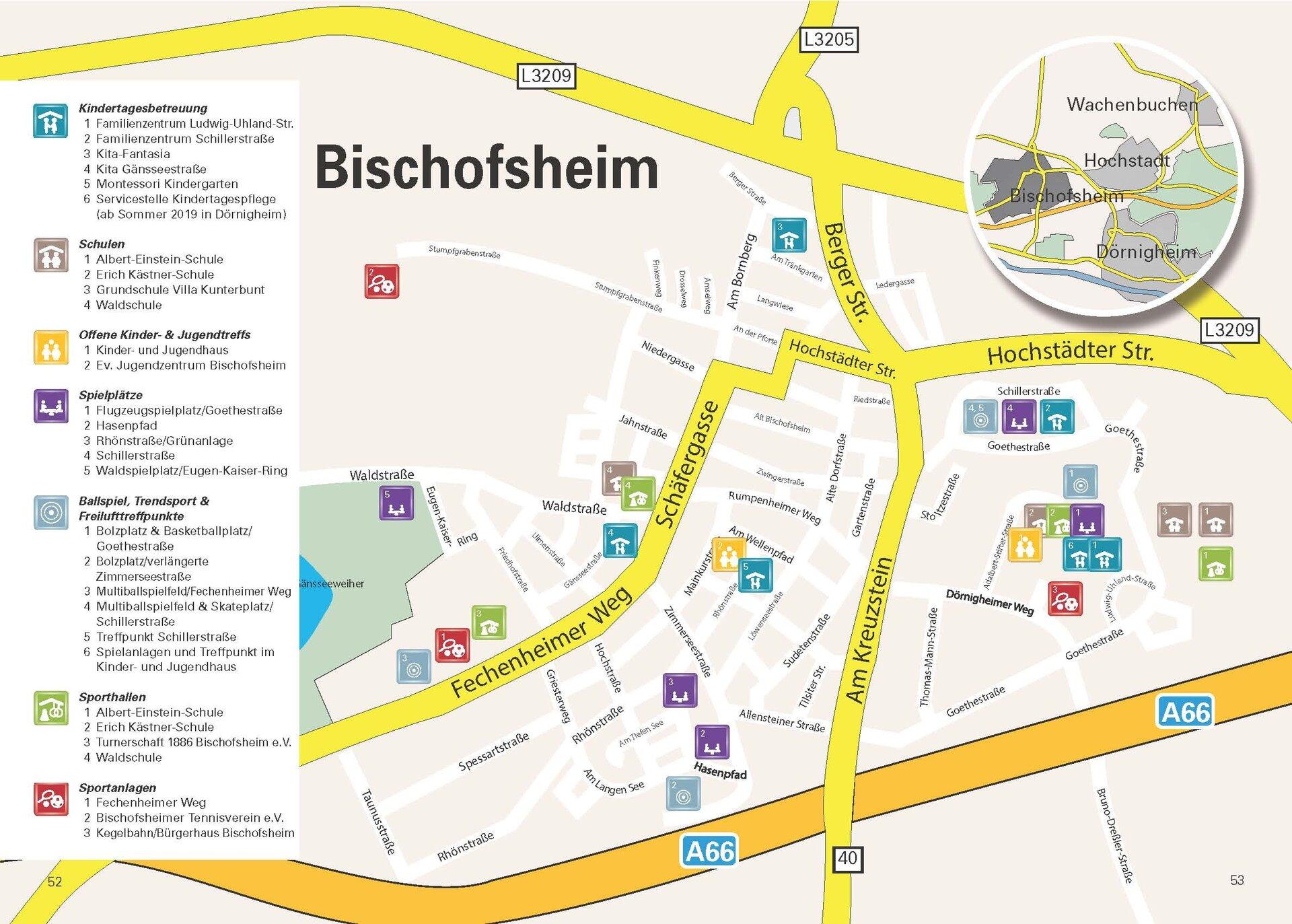 Spiel- und Bolzplätze in Maintal-Bischofsheim