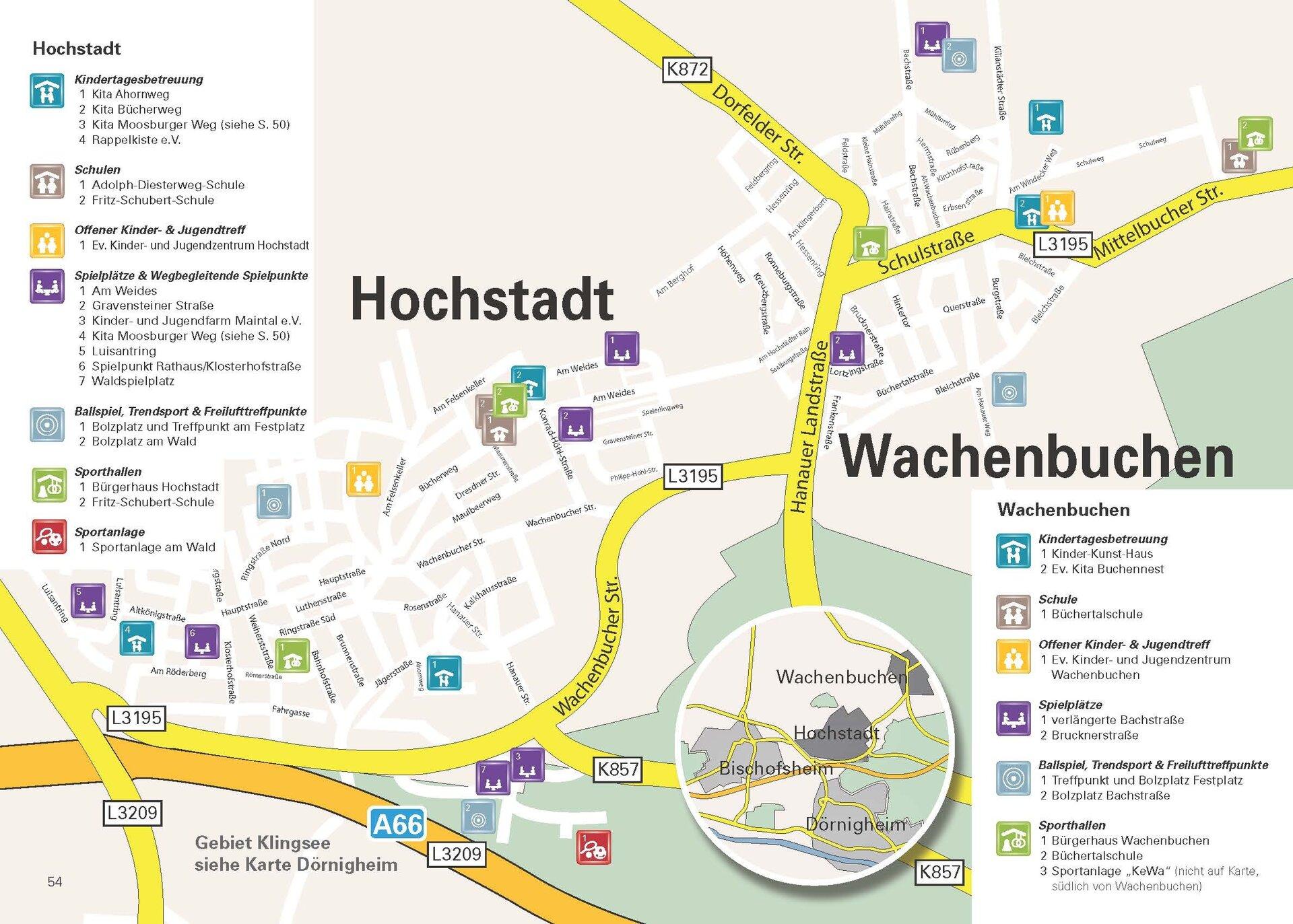Spiel- und Bolzplätze in Maintal-Hochstadt und Wachenbuchen