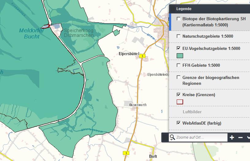 Karte des Südkoogs