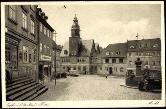 Markt Stadtroda um 1900