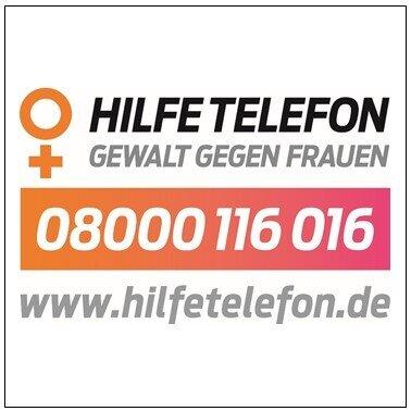 """Externer Link zur Homepage """"Hilfetelefon Gewalt gegen Frauen"""""""