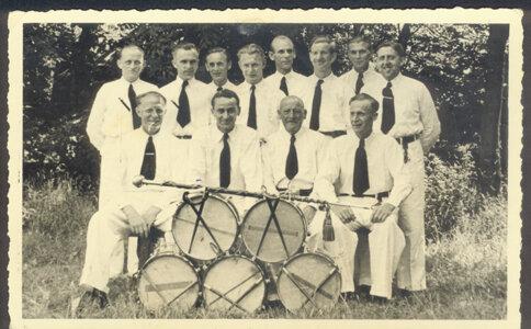 Der Gilde-Spielmannszug im Jahre 1950