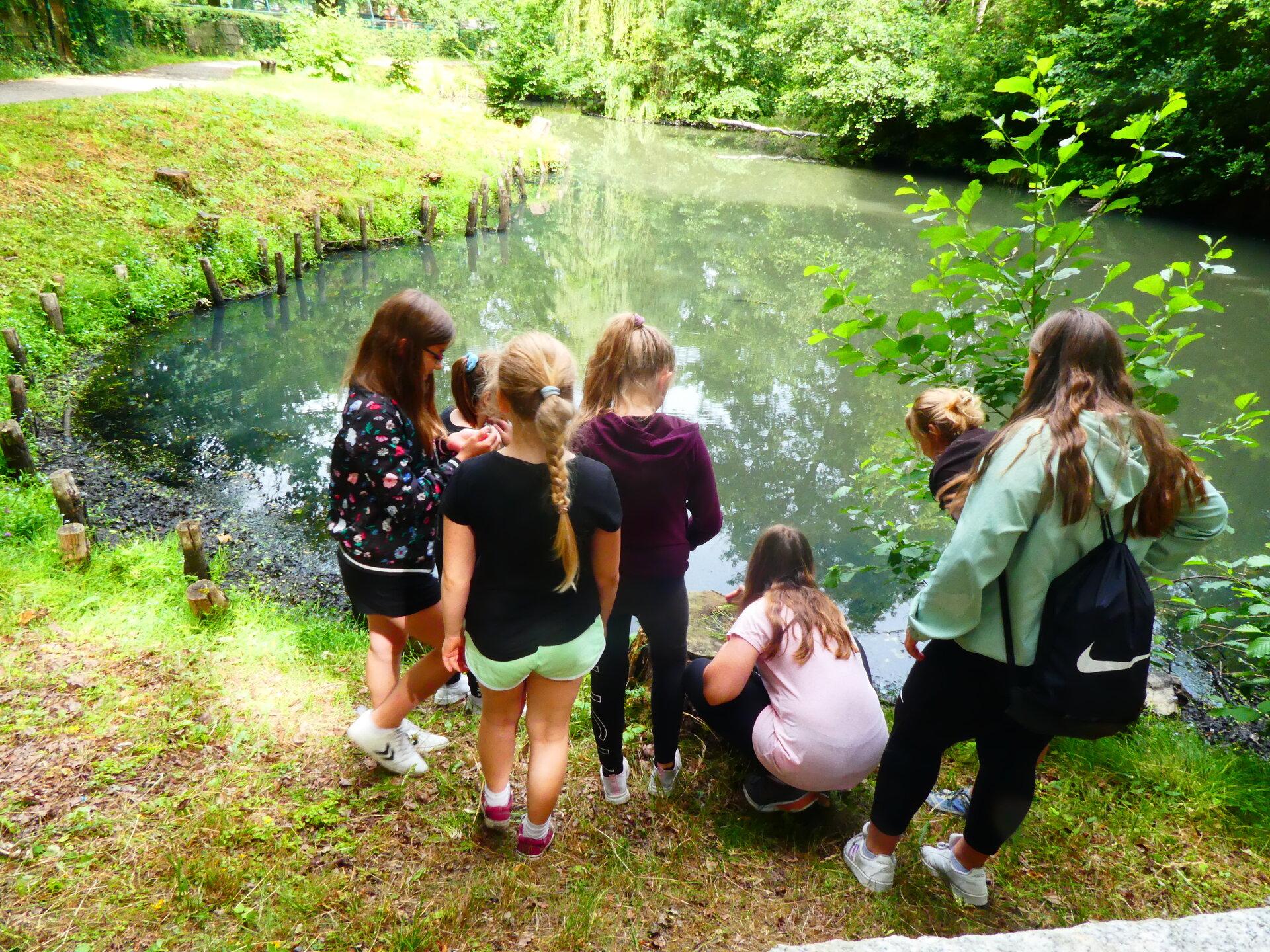Die Kinder hatten viel Spaß beim Keschern und Forschen.