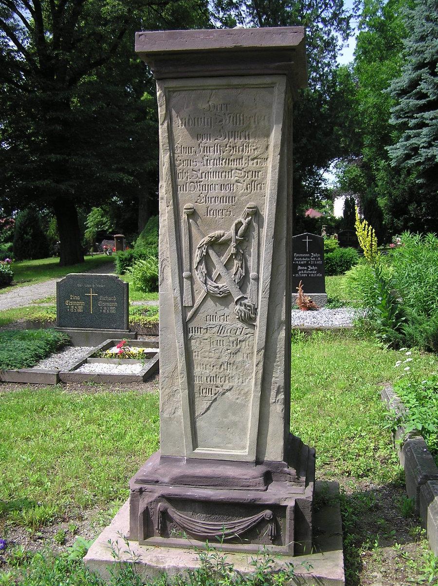 Grabmal des Leutnant von Oppen