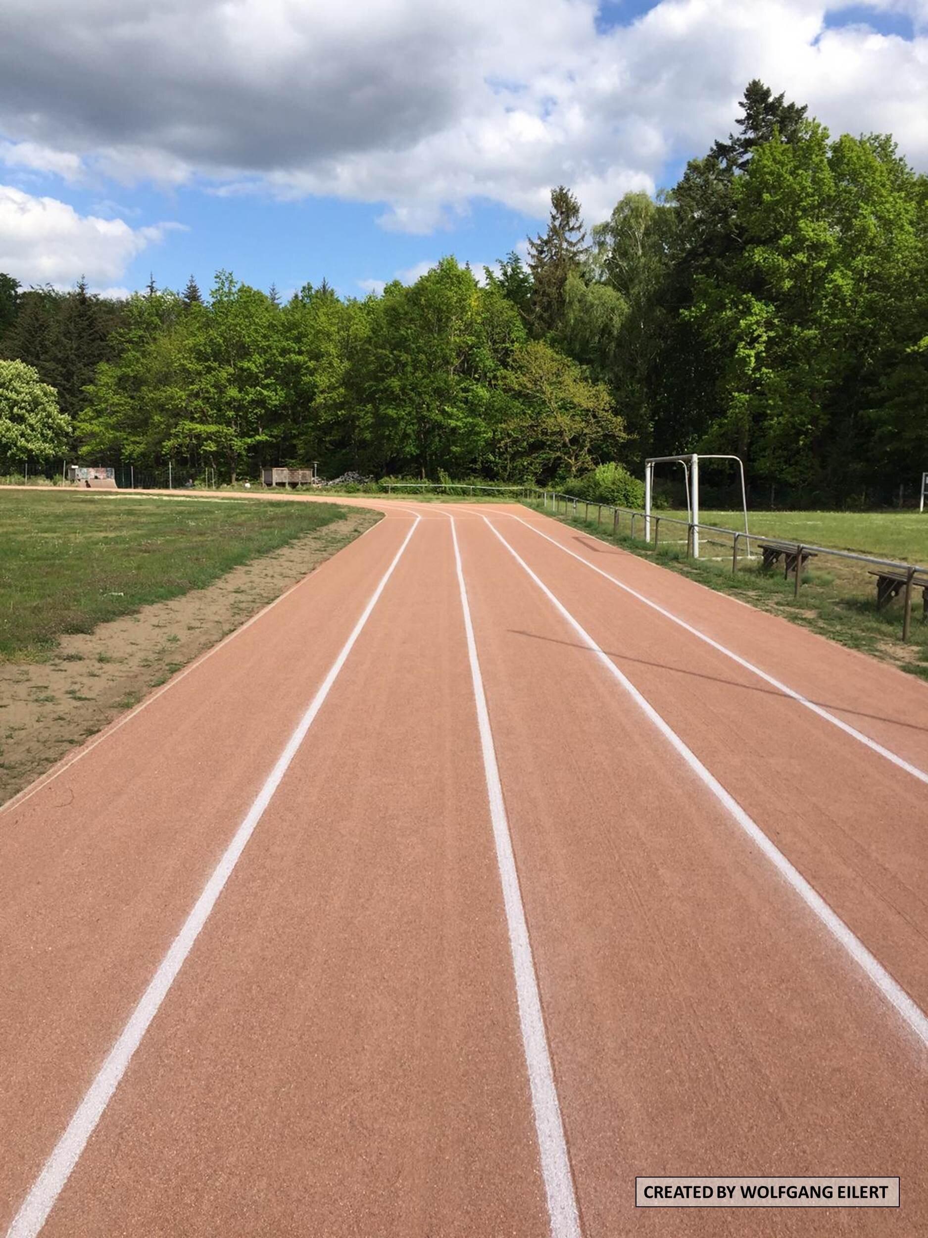 Ende der 100m Bahn