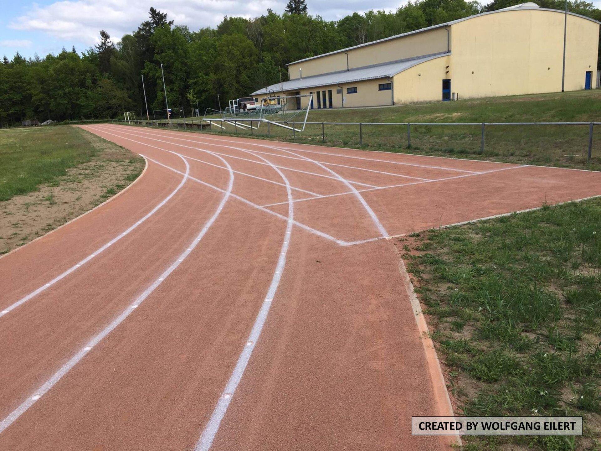 Start der 100m Bahn