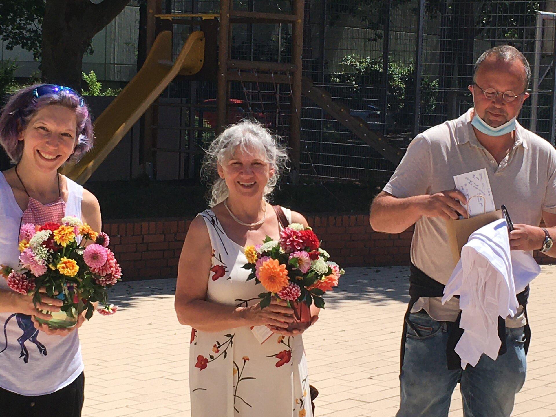 Frau Freudenthaler, Frau Klug und Herr Correll