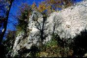 Südmauer der Ruine Vorderlichtenstein