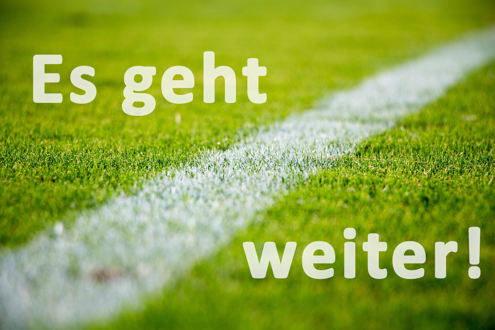 Es geht weiter Fußball Wenings