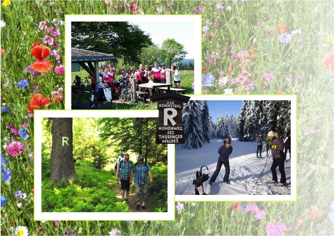Wandern, Rad- und Skifahren