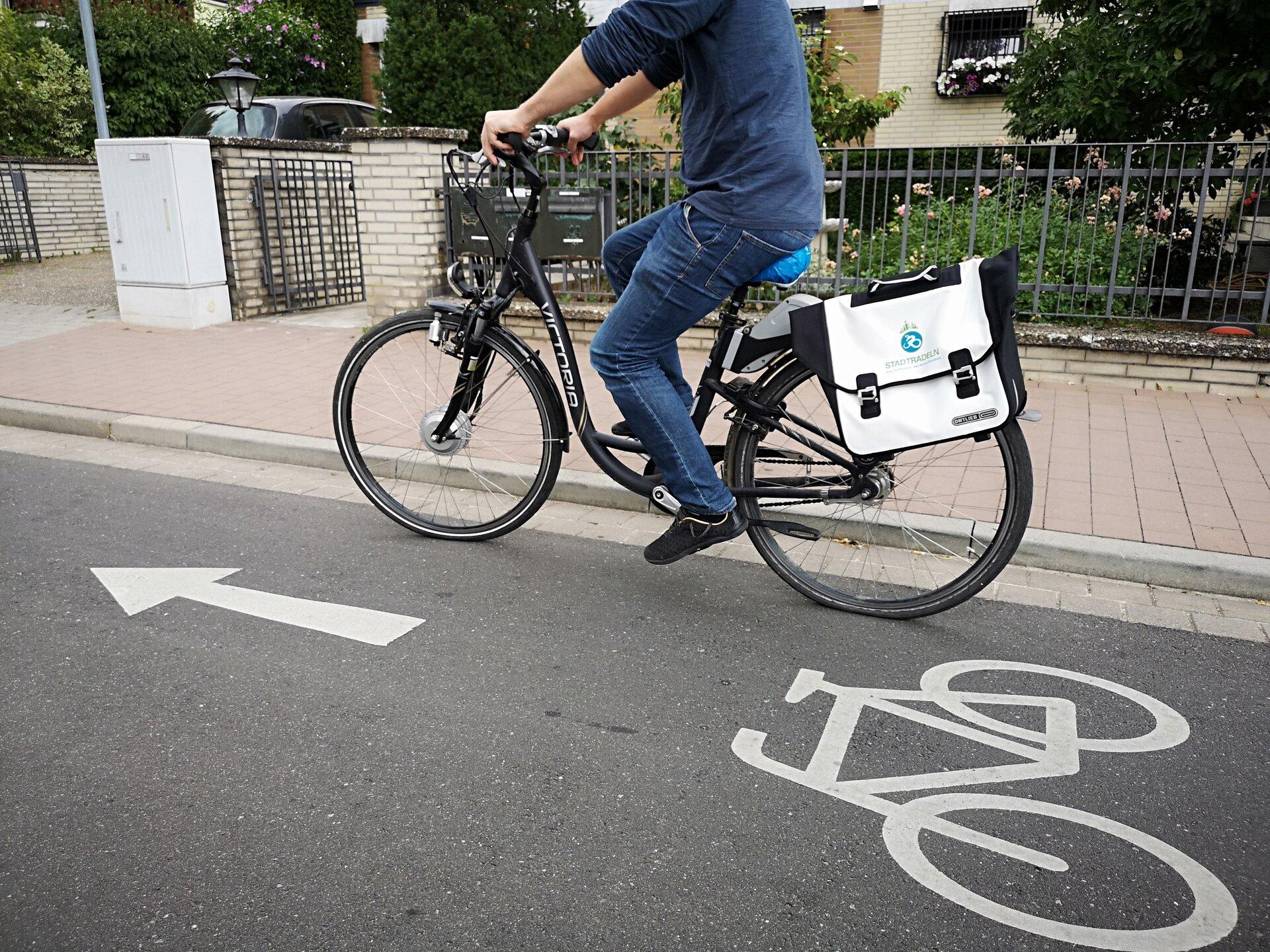 Foto zeigt einen Fahrradfahrer; Foto: Stadt Maintal