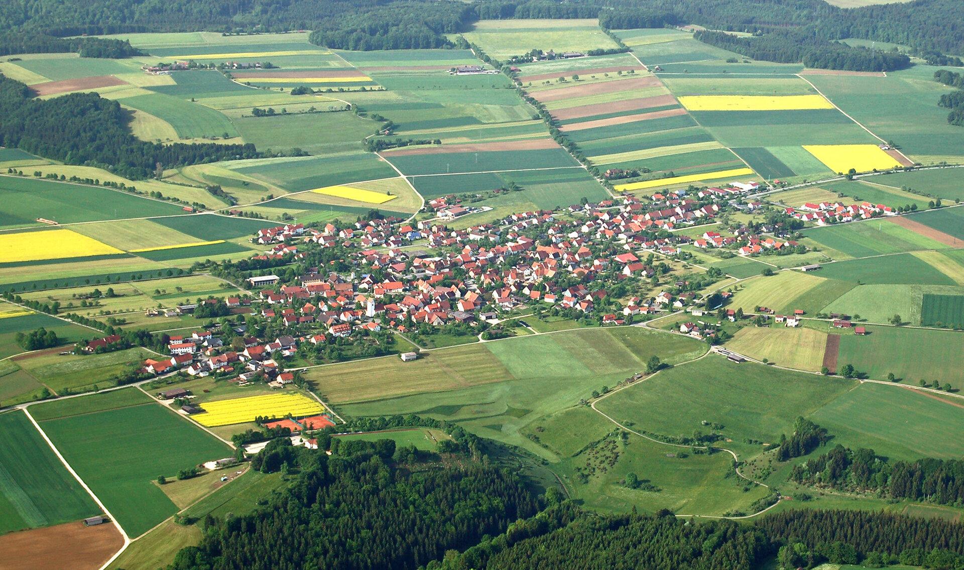 Luftbild Mehrstetten