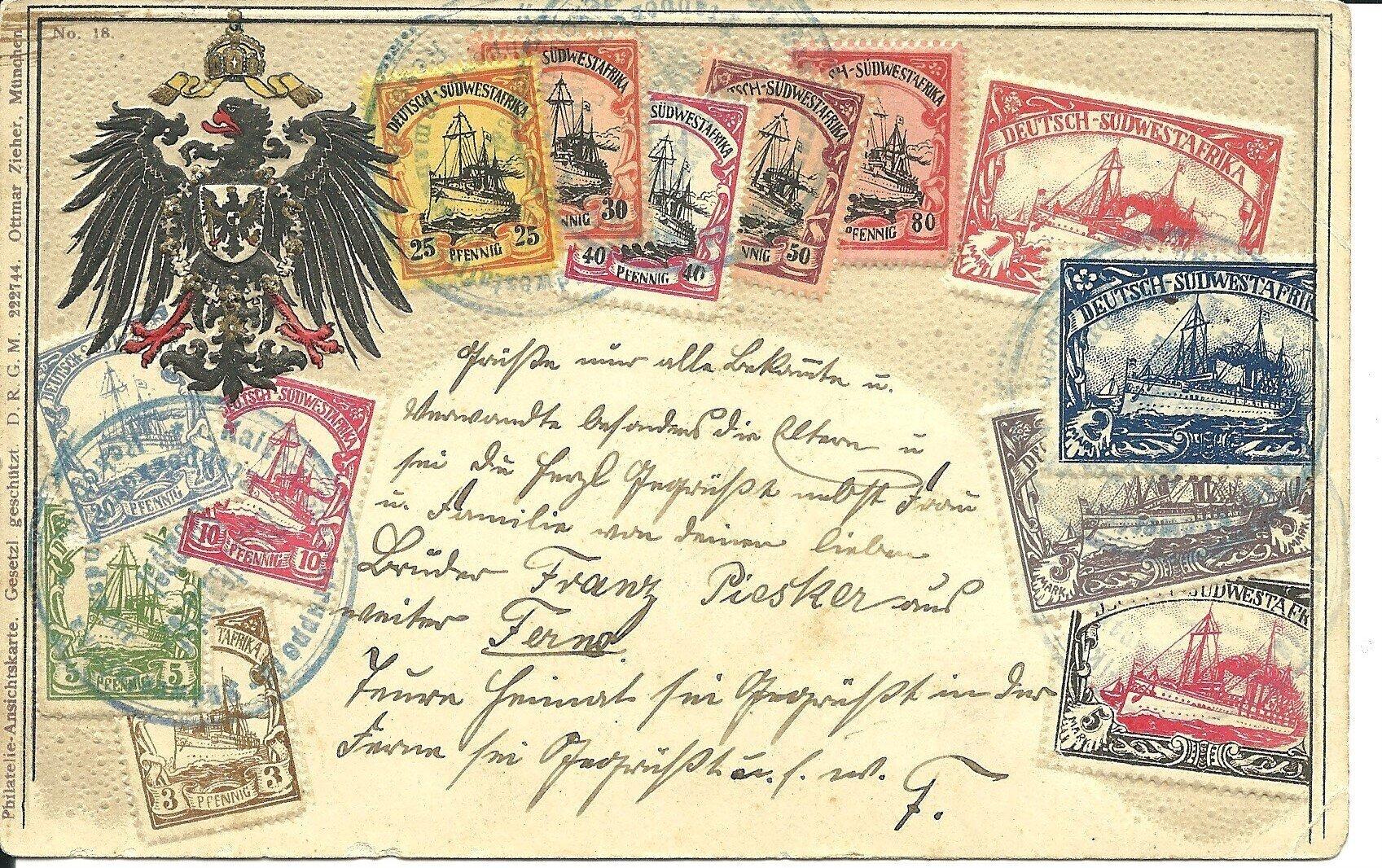 Postkarte Afrika 1906 Vorderseite